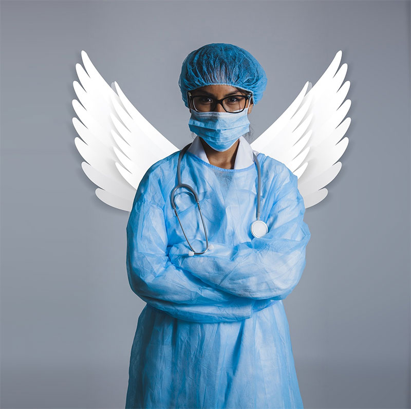 guardian nurse with wings