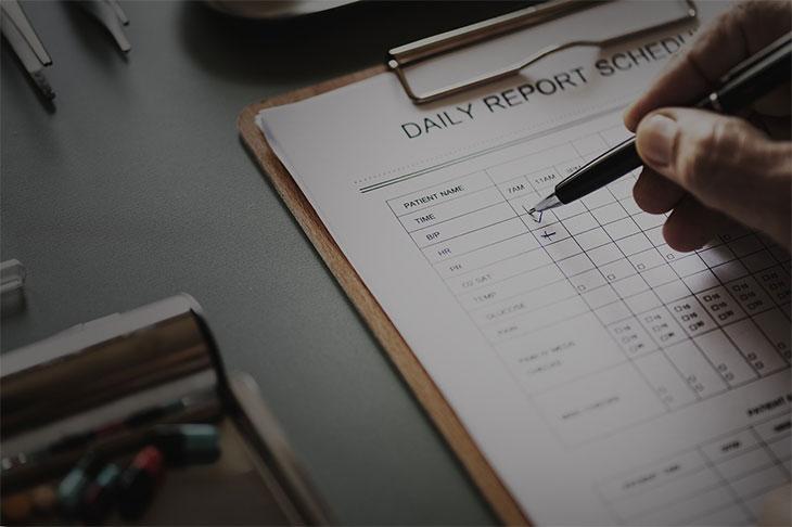 nurse reporting sheet