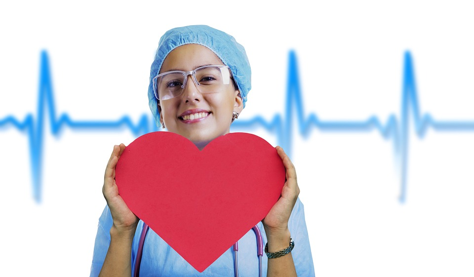 nurse with heart